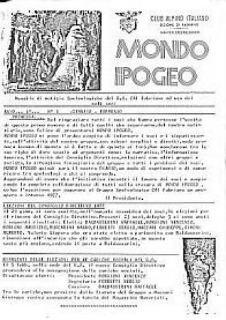 Mondo ipogeo : mensile di notizie speleologiche del G.S. CAI Fabriano